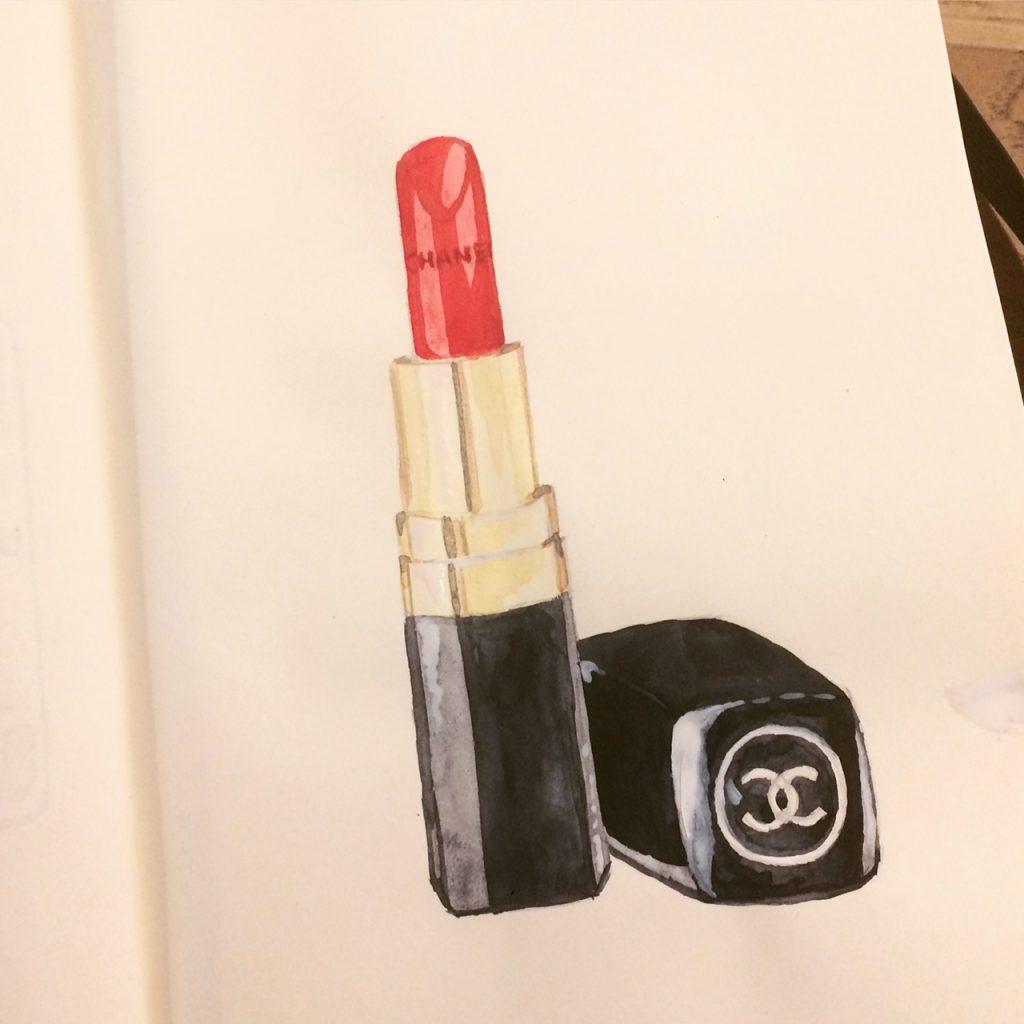 New illustration: Chanel lipstick