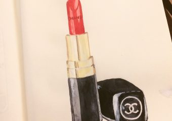 New illustration: Chanel lipstick